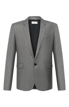 Мужской пиджак из шерсти и вискозы SAINT LAURENT серебряного цвета, арт. 600331/Y1B55 | Фото 1