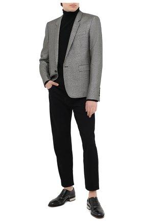 Мужской пиджак из шерсти и вискозы SAINT LAURENT серебряного цвета, арт. 600331/Y1B55 | Фото 2
