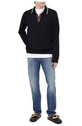 Мужское хлопковое поло GUCCI темно-синего цвета, арт. 626271/XKBFV | Фото 2