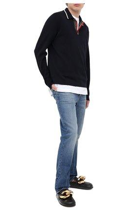 Мужские кожаные сабо J.W. ANDERSON черного цвета, арт. AN35504A/12020 | Фото 2