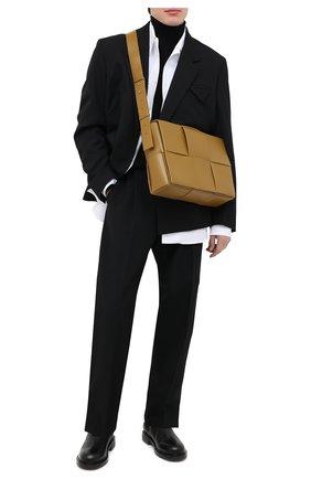 Мужская кожаная сумка BOTTEGA VENETA хаки цвета, арт. 629202/VB1K0   Фото 2