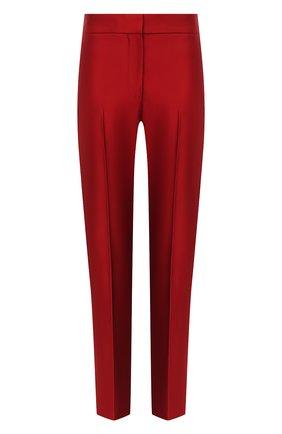 Женские шелковые брюки ALEXANDER MCQUEEN красного цвета, арт. 584873/QBAAW | Фото 1