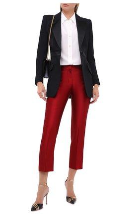 Женские шелковые брюки ALEXANDER MCQUEEN красного цвета, арт. 584873/QBAAW | Фото 2