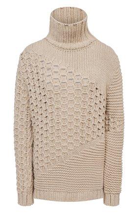 Женская свитер из кашемира и шерсти KITON бежевого цвета, арт. D50733X05S48 | Фото 1