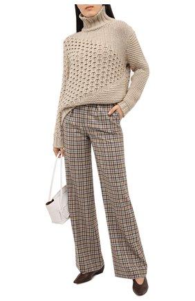 Женская свитер из кашемира и шерсти KITON бежевого цвета, арт. D50733X05S48 | Фото 2