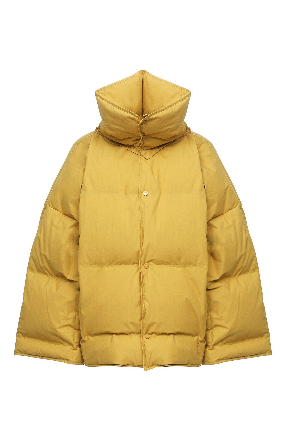 Женский пуховая куртка BOTTEGA VENETA желтого цвета, арт. 632739/VKH50 | Фото 1