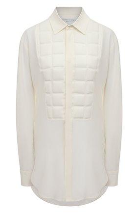 Женская шелковая рубашка BOTTEGA VENETA белого цвета, арт. 629736/VKUH0 | Фото 1