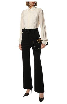 Женская шелковая рубашка BOTTEGA VENETA белого цвета, арт. 629736/VKUH0 | Фото 2