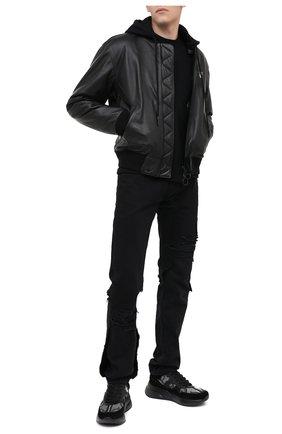 Мужские комбинированные кроссовки ALEXANDER MCQUEEN черного цвета, арт. 627193/WHBGS | Фото 2