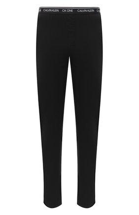 Мужские хлопковые домашние брюки CALVIN KLEIN черного цвета, арт. NM1796E | Фото 1