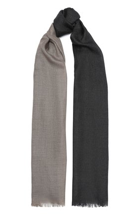 Мужской шарф из кашемира и шелка LORO PIANA серого цвета, арт. FAI8200 | Фото 1