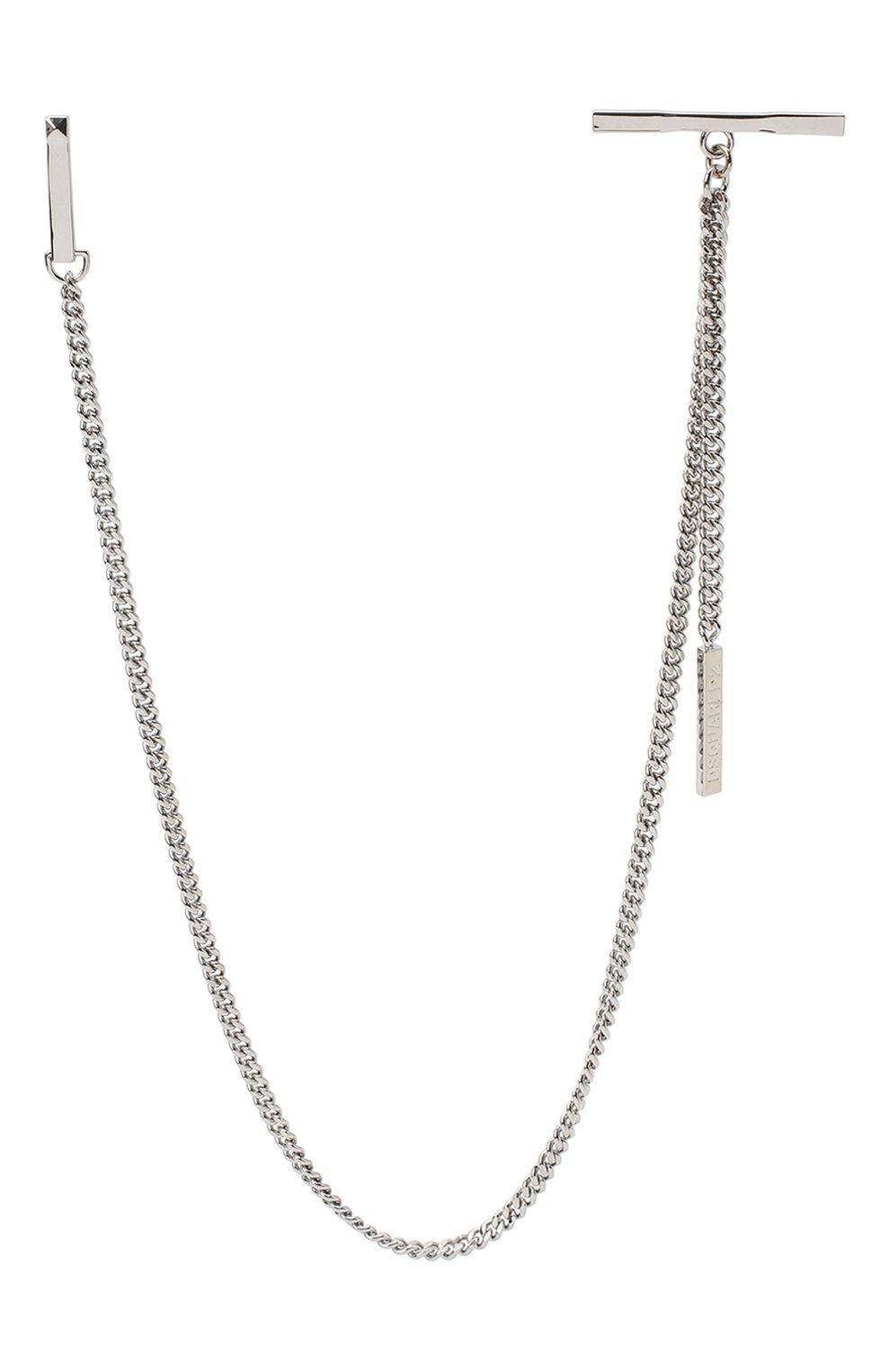 Мужского цепь DSQUARED2 серебряного цвета, арт. CHM0030/37200001 | Фото 1