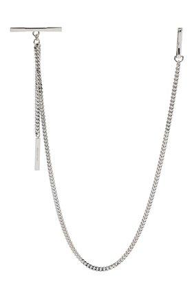 Мужского цепь DSQUARED2 серебряного цвета, арт. CHM0030/37200001 | Фото 2