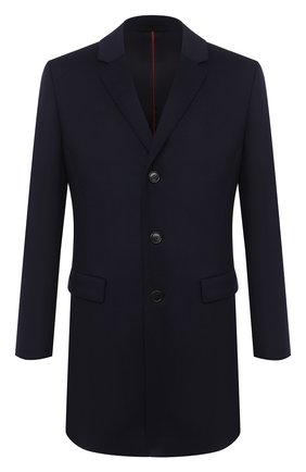 Мужской пальто из шерсти и кашемира HUGO темно-синего цвета, арт. 50438437 | Фото 1