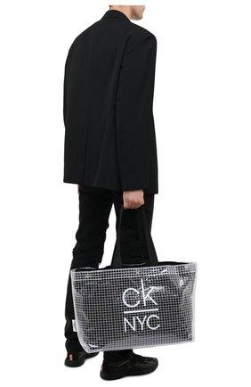 Мужская сумка-шопер CALVIN KLEIN черно-белого цвета, арт. K90KW00005 | Фото 2