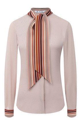 Женская шелковая блузка LORO PIANA розового цвета, арт. FAL3454   Фото 1