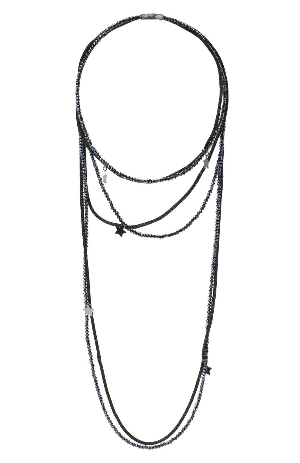 Женское колье LORENA ANTONIAZZI темно-синего цвета, арт. A2085CL003/9999 | Фото 1 (Материал: Металл)