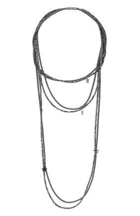 Женское колье LORENA ANTONIAZZI черного цвета, арт. A2085CL003/9999   Фото 1