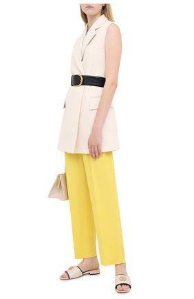 Женские брюки MSGM желтого цвета, арт. 2943MDP04 207600 | Фото 2