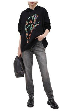 Женская хлопковое худи MSGM черного цвета, арт. 2943MDM76 207649 | Фото 2