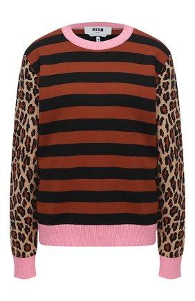 Женская пуловер MSGM разноцветного цвета, арт. 2943MDM118 207632 | Фото 1