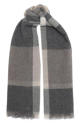 Мужские кашемировый шарф KITON серого цвета, арт. D50742X04T88 | Фото 1