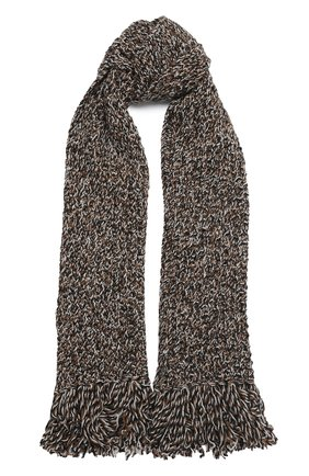 Мужские кашемировый шарф KITON коричневого цвета, арт. D50739X04T80 | Фото 1