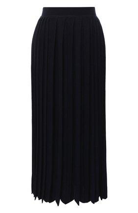 Женская юбка из кашемира и шелка LORO PIANA темно-синего цвета, арт. FAL2186 | Фото 1