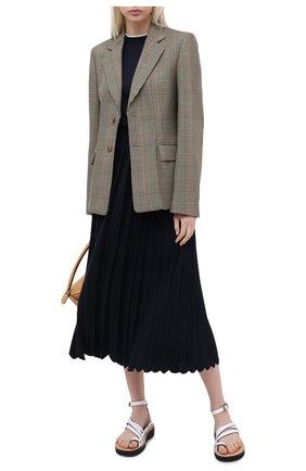 Женская юбка из кашемира и шелка LORO PIANA темно-синего цвета, арт. FAL2186 | Фото 2