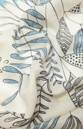 Женская шаль из кашемира и шелка  scialle LORO PIANA белого цвета, арт. FAL2421 | Фото 2