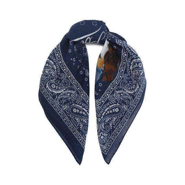Хлопковый платок Bear Polo Ralph Lauren