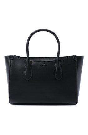 Женская сумка-тоут POLO RALPH LAUREN черного цвета, арт. 428765941 | Фото 1