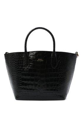Женская сумка-тоут POLO RALPH LAUREN черного цвета, арт. 428751507 | Фото 1