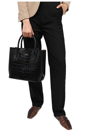 Женская сумка-тоут POLO RALPH LAUREN черного цвета, арт. 428751507 | Фото 2