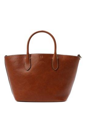 Женская сумка-тоут POLO RALPH LAUREN бежевого цвета, арт. 428742073 | Фото 1