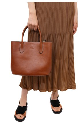 Женская сумка-тоут POLO RALPH LAUREN бежевого цвета, арт. 428742073 | Фото 2