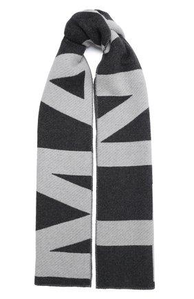 Мужские шерстяной шарф ISABEL MARANT серого цвета, арт. EC0185-20A022A/L0LI | Фото 1