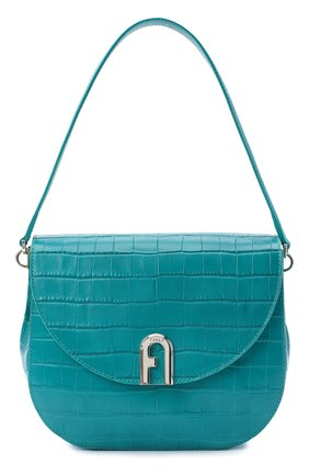 Женская сумка sleek FURLA бирюзового цвета, арт. BAWHABR/KO0000 | Фото 1