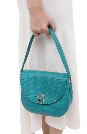 Женская сумка sleek FURLA бирюзового цвета, арт. BAWHABR/KO0000 | Фото 2