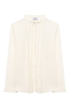 Детское хлопковая блузка ALETTA бежевого цвета, арт. AC000469ML/9A-16A | Фото 1