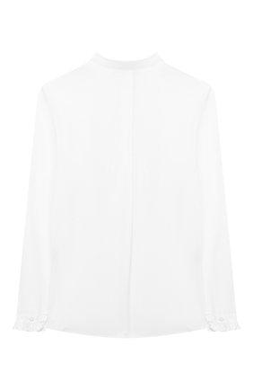 Детское хлопковая блузка ALETTA белого цвета, арт. AC000469ML/4A-8A | Фото 2