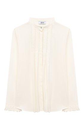 Детское хлопковая блузка ALETTA бежевого цвета, арт. AC000469ML/4A-8A | Фото 1