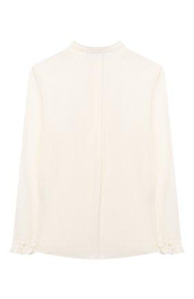 Детское хлопковая блузка ALETTA бежевого цвета, арт. AC000469ML/4A-8A | Фото 2
