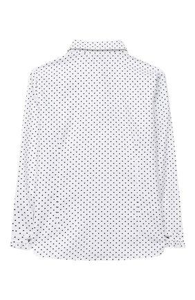 Детское хлопковая блузка ALETTA белого цвета, арт. AC000471AML/4A-8A | Фото 2