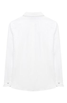 Детское хлопковая блузка ALETTA белого цвета, арт. AC000471BML/4A-8A | Фото 2