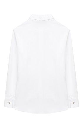 Детское хлопковая блузка ALETTA белого цвета, арт. AC000472ML/9A-16A | Фото 2