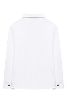 Детское хлопковая блузка ALETTA белого цвета, арт. AC000484ML/4A-8A | Фото 2