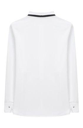 Детское хлопковая блузка ALETTA белого цвета, арт. AC000487ML/4A-8A | Фото 2