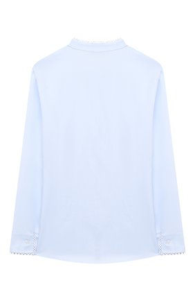 Детское хлопковая блузка ALETTA голубого цвета, арт. AC000495ML/4A-8A | Фото 2