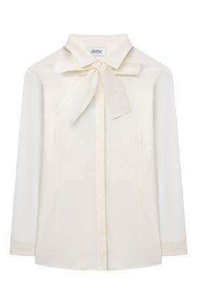 Детское хлопковая блузка ALETTA бежевого цвета, арт. AC666278DML/9A-16A | Фото 1